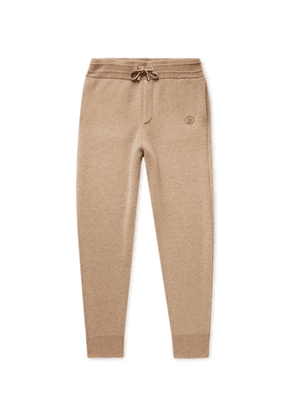 BURBERRY - Tapered Cashmere-Blend Sweatpants - Men - Brown