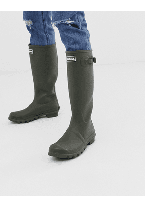 Barbour Bede wellington boots in olive-Green