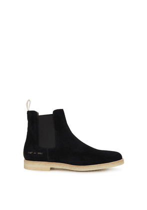 Common Projects Black Brushed Suede Chelsea Boots