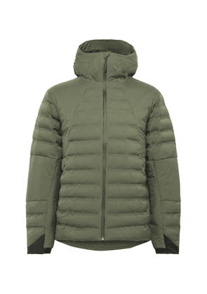 Aztech Mountain - Pyramid Padded Quilted Hooded Ski Jacket - Men - Green