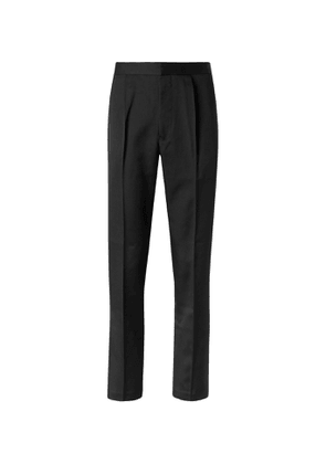 Camoshita - Tapered Twill Trousers - Men - Black
