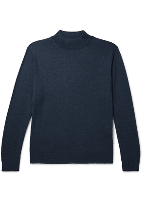 Camoshita - Wool Mock-Neck Sweater - Men - Blue
