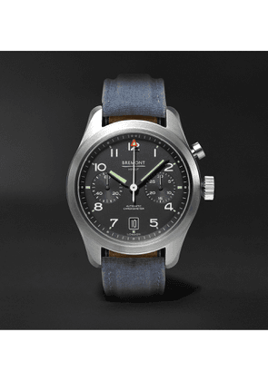 Bremont - Arrow Automatic Chronograph 42mm Stainless Steel and Sailcloth Watch - Men - Black