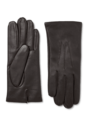 Dents - Bath Cashmere-Lined Leather Gloves - Men - Brown