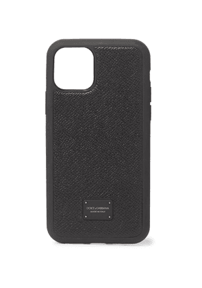 DOLCE & GABBANA - Pebble-Grain Leather iPhone 11 Pro Case - Men - Black