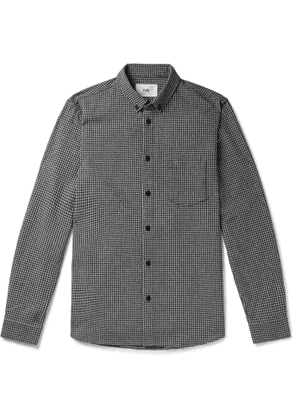 Folk - Button-Down Collar Checked Cotton-Flannel Shirt - Men - Blue
