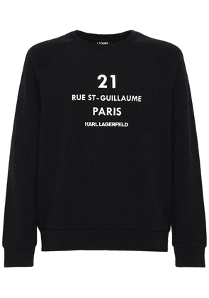 Paris Print Cotton Blend Sweatshirt