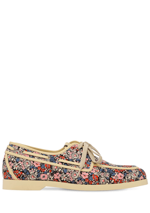 Liberty Print Cotton Canvas Boat Shoes