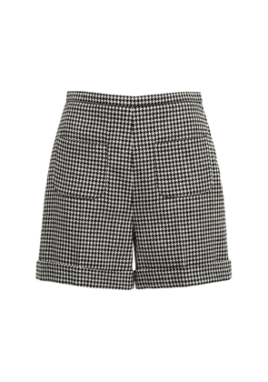 Wool Houndstooth Shorts