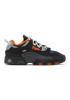 Doublet Black and Orange DC Shoes Edition Hybrid Sneakers