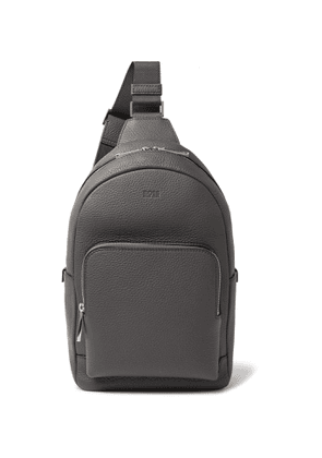Hugo Boss - Crosstown Full-Grain Leather Backpack - Men - Gray