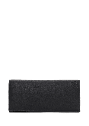 Logo Leather Long Horizontal Wallet