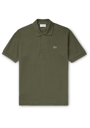 Lacoste - Logo-Appliquéd Cotton-Piqué Polo Shirt - Men - Green