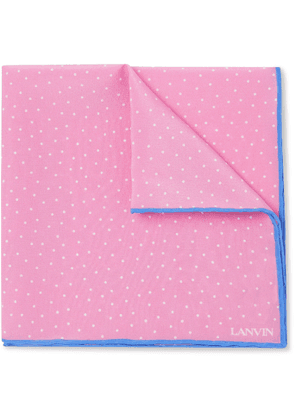 Lanvin - Polka-Dot Silk Pocket Square - Men - Pink