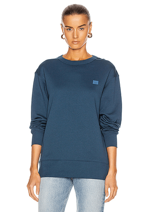 Acne Studios Fairview Face Sweatshirt in Midnight Blue - Blue. Size S (also in ).