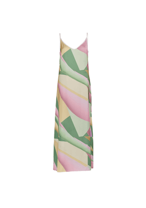 CocooVe - Rhaea Slip Maxi Dress In Patisserie Print