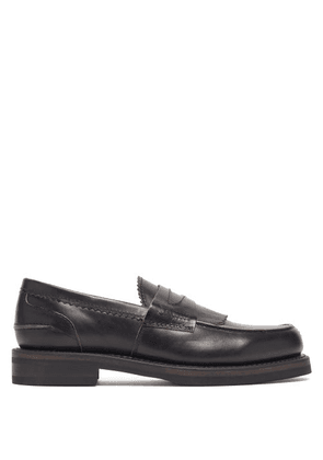 Our Legacy - Distressed Penny Loafers - Mens - Black