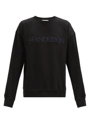 JW Anderson - Logo-embroidered Cotton-jersey Sweatshirt - Mens - Black