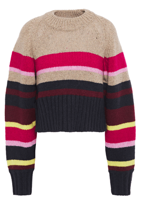 Current/elliott The Moonshine Striped Knitted Sweater Woman Multicolor Size 3