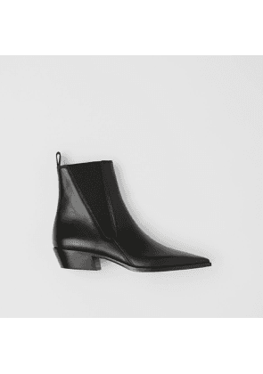 Burberry Leather Point-toe Chelsea Boots, Black