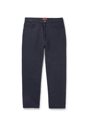 Barena - Tapered Cotton-Blend Twill Trousers - Men - Blue
