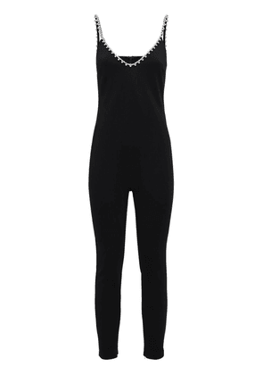 Bonded Cat Suit W/ Crystal Straps