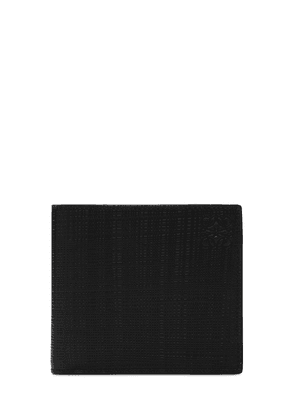 Textured Leather Billfold Coin Wallet