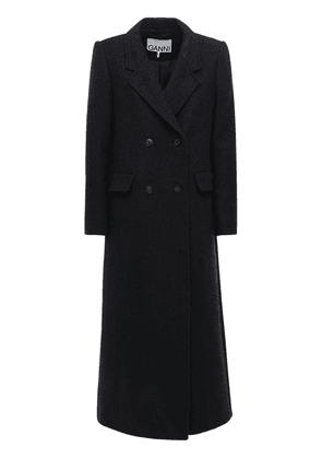 Double Breast Recycled Wool Blend Coat
