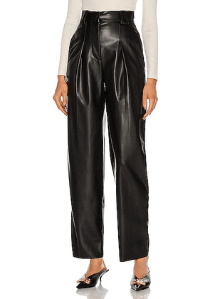 BROGNANO Leather Pant in Black - Black. Size 38 (also in 40,42,44).
