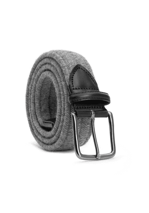 Dalgado - Elastic Braided Wool Belt Grey Flavio