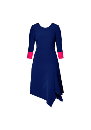 Mellaris - Erna Dress Navy & Autumn Pink Contrast