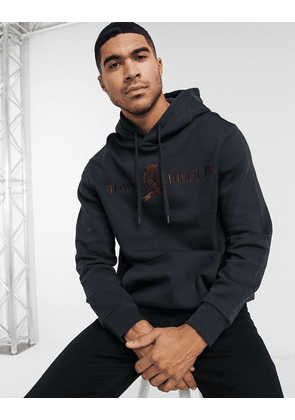 Tommy Hilfiger Collections crest and logo hoodie-Navy