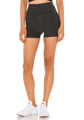 Beyond Yoga High Waist 3 Inch Short in Charcoal. Size XS,S,M.