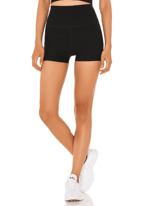 Beyond Yoga High Waist 3 Inch Short in Black. Size XS,S,M.