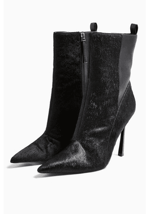 Womens Holly Black Point Boots - Black, Black