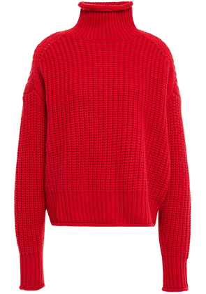 Autumn Cashmere Ribbed-knit Turtleneck Sweater Woman Red Size S