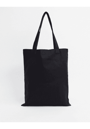 ASOS DESIGN heavyweight washable tote bag in black