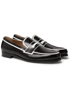 Christian Louboutin - Magic Moc Leather Penny Loafers - Men - Black