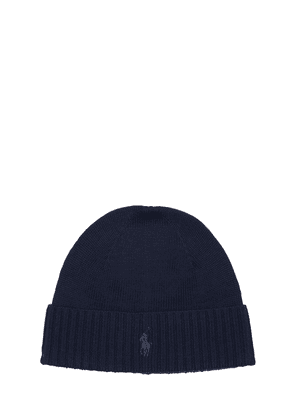 Pony Wool Knit Beanie Hat