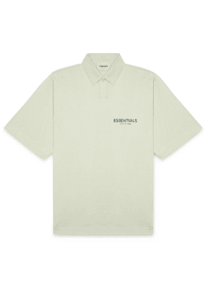 Fear of God Essentials - Logo-Print Cotton-Jersey Polo Shirt - Men - Green