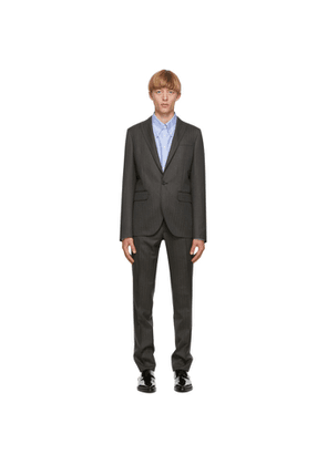 Dsquared2 Grey Wool Striped Tokyo Fit Suit