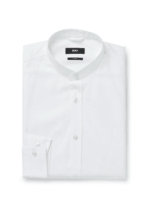 Hugo Boss - Slim-Fit Grandad-Collar Cotton Oxford Shirt - Men - White