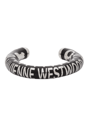 Vivienne Westwood Black and Silver Lazarus Ring