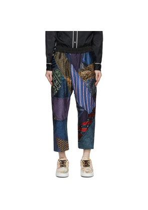 By Walid Multicolor Silk Tie Story Gerald Trousers