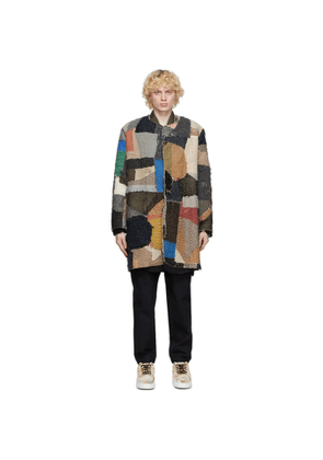 By Walid Multicolor Cashmere Repatch Miro Cardigan