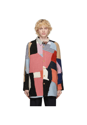 By Walid Multicolor Cashmere Repatch Miles Shirt Jacket