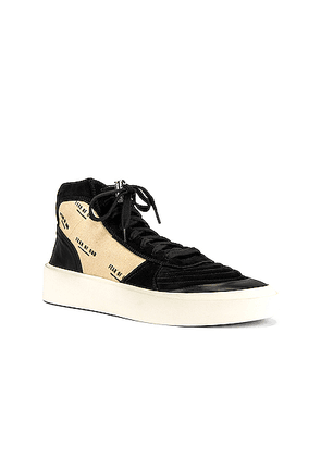 Fear of God Strapless Skate Mid in Black & Creme Print - Black,Neutral. Size 46 (also in ).