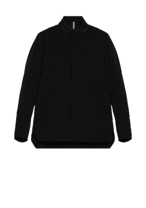 Veilance Mionn IS Overshirt in Black - Black. Size M (also in S,XL).