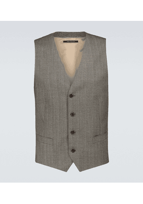 Striped wool formal waistcoat