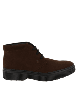 Desert Boots Tod's Lace-up Desert Boots In Suede With Rubber Bottom